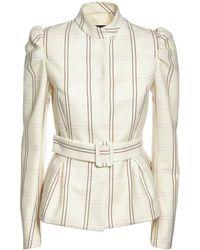 Rochas シルク&ウールジャケット - ホワイト