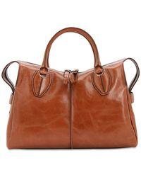 Tod's Any Leather Top Handle Bag - Braun