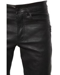 """Amiri 15cm Jeans Aus Leder """"mx2"""" - Schwarz"""