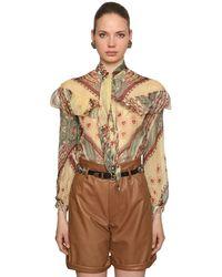 Etro Silk Crepe Georgette Shirt - Multicolour