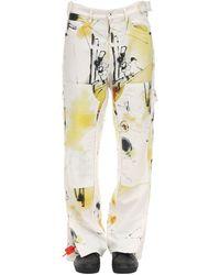 "Off-White c/o Virgil Abloh Jeans Aus Denim ""futura Abstract Carpenter"" - Mehrfarbig"