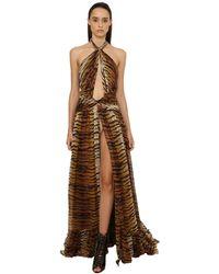 Dundas ジョーゼットドレス - ブラウン