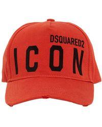 DSquared² Cappello In Gabardina Di Cotone - Rosso