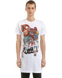 Comme des Garçons Dolls Printed Long Cotton Jersey T-shirt - White