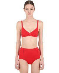 Laura Urbinati High Waist Lycra Bikini - Red
