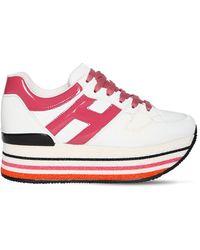 Hogan Кроссовки H40 На Платформе 501мм - Розовый
