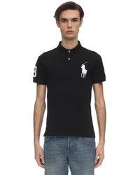 Polo Ralph Lauren Big Pony Cotton Piquet Polo Shirt - Black