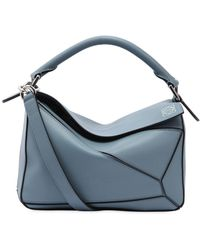Loewe - Small Puzzle Leather Top Handle Bag - Lyst