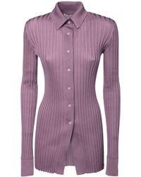 Bottega Veneta Шелковая Рубашка - Пурпурный