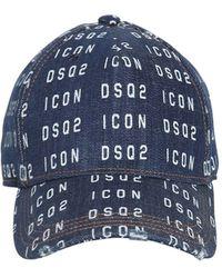 DSquared² Casquette Icon imprimée - Bleu