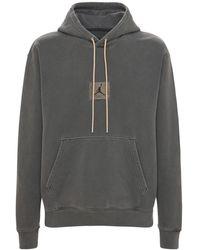 """Nike Fleece-hoodie """"flight Heritage Washed"""" - Grau"""