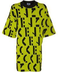 KENZO - Monogram コットンブレンドミニtシャツドレス - Lyst