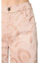 Etro Ausgestellte Jeans Aus Baumwolldenim - Pink