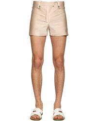 Ludovic de Saint Sernin Short Nylon Shorts W/ Eyelets - Pink