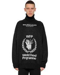 "Balenciaga Maglia ""world Food Program"" In Lana - Nero"