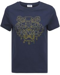 KENZO Tiger コットンtシャツ - ブルー