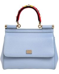 Dolce & Gabbana | Small Sicily Dauphine Leather Bag | Lyst