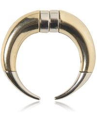 Givenchy | Double Cone Shark Brass Mono Earring | Lyst