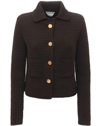 Bottega Veneta Compact Cotton Mesh Jacket - Brown