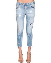 "DSquared² Kürzere Jeans Aus Denim ""cool Girl"" - Blau"