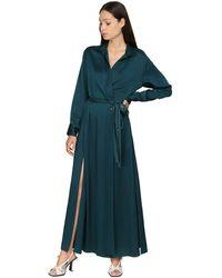 Sies Marjan - サテンクレープラップシャツドレス - Lyst