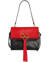Valentino Garavani Vring Leather Bag - Red
