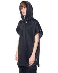Juun.J - Oversize Zip Hooded Cotton Sweatshirt - Lyst
