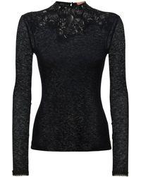 Ermanno Scervino 刺繍レースニットセーター - ブラック