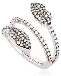 Delfina Delettrez Marry Me Double Lips Ring - Metallic