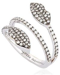 "Delfina Delettrez Ring ""marry Me Double Lips"" - Mettallic"