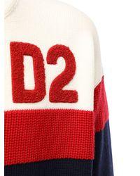 DSquared² Трикотажный Свитер Из Шерсти - Красный