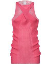 Bottega Veneta Strickripppullover Aus Baumwolle Und Seide - Pink