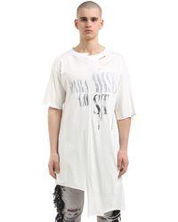 Alchemist Maxi-t-shirt Aus Baumwolle Mit Druck - Weiß