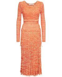 Christopher Esber ストレッチビスコースニットドレス - オレンジ