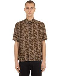 Fendi - Allover Printed Bowling Shirt - Lyst