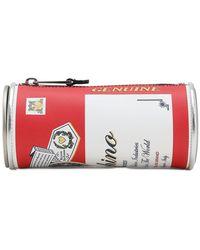 Moschino Кожаный Клатч С Принтом - Красный