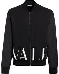 Valentino ジャージー&ナイロンジャケット - ブラック