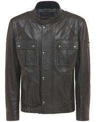 Belstaff Gangster Leather Jacket - Black
