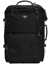 Prada - Multi Pockets Nylon 2-wheel Trolley - Lyst