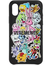Vetements Monster Stickers Iphone Xs Cover - Black