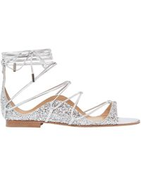 DSquared² - 10mm Glittered Lace-up Sandals - Lyst