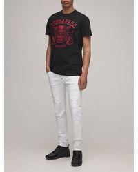 """DSquared² 16cm Jeans Aus Baumwolldenim """"skater"""" - Weiß"""