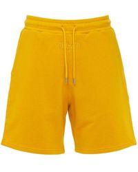 BEL-AIR ATHLETICS Gothic Font Logo Cotton Shorts - Orange