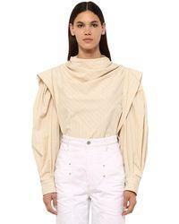 Isabel Marant Рубашка Из Смешанного Хлопка Поплин - Белый