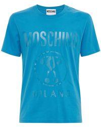 Moschino プリントコットンtシャツ - ブルー
