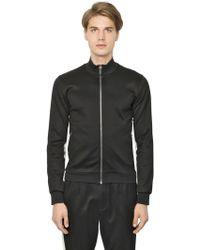 Dolce & Gabbana Sudadra De Algodón Doble Zip Up - Negro