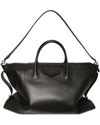 Givenchy Leather Duffle Bag W/ Logo Detail - Black