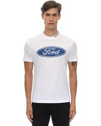 Versace Ford テーラーフィットコットンtシャツ - ホワイト