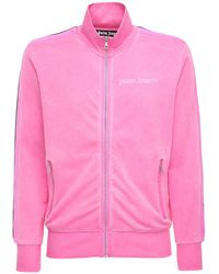 Palm Angels Giacca In Techno Jersey - Rosa