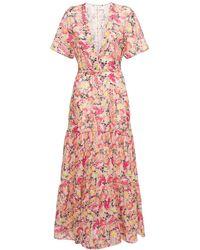 Stella McCartney Floral コットンボイルドレス - ピンク